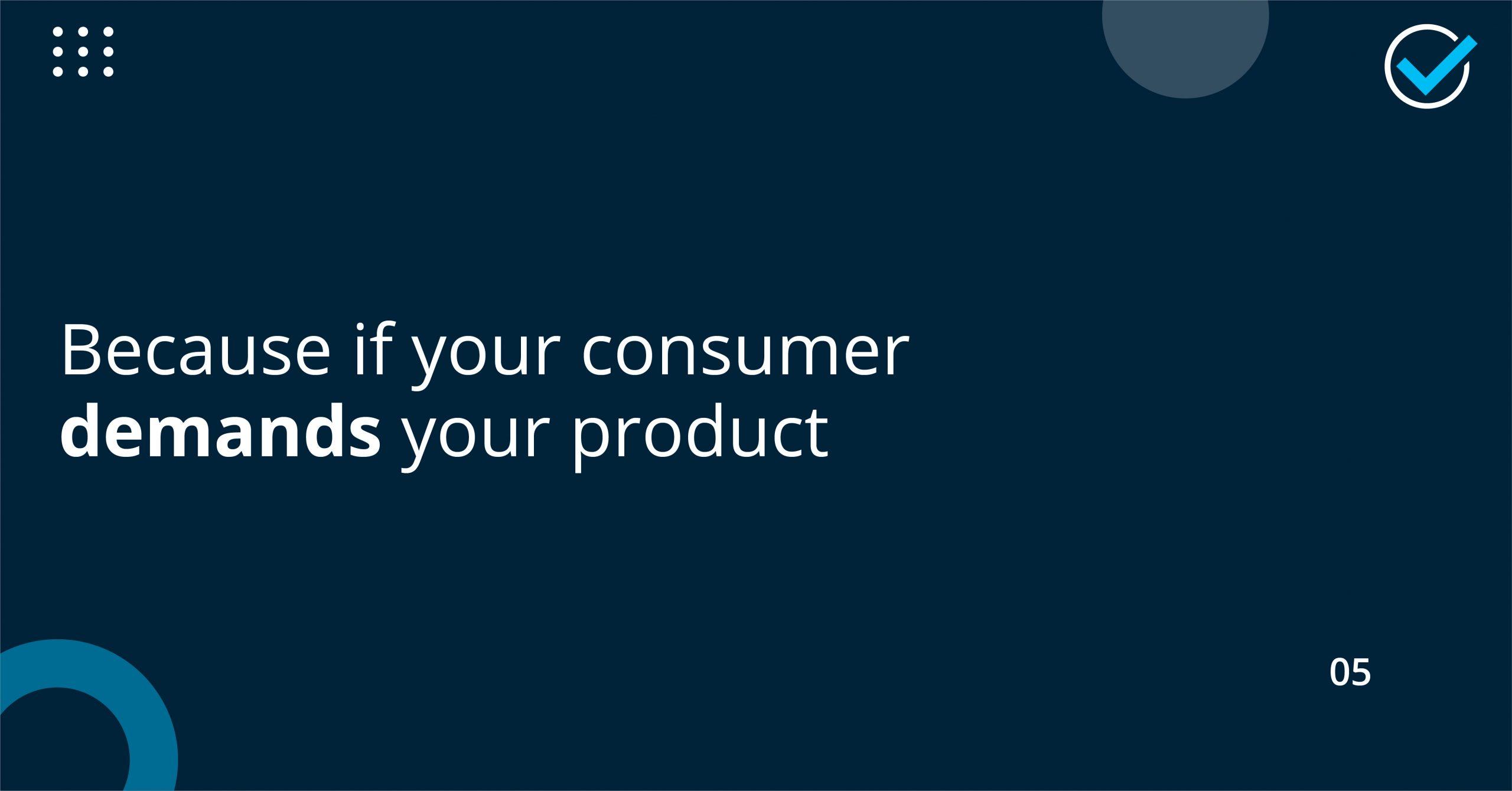 consumer deamsn